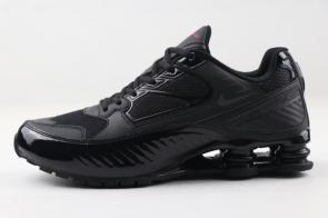 nike shox enigma r4 training shoes bq9001 001 all black