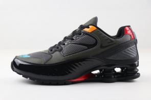 nike shox enigma r4 training shoes bq9001 002 army black