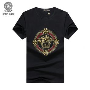 versace t-shirt fashion designer versace embroidery round black