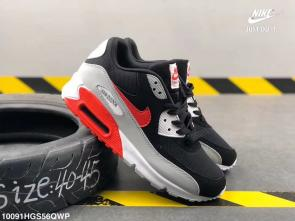 nike air max 90 essential limited edition two leather red gray