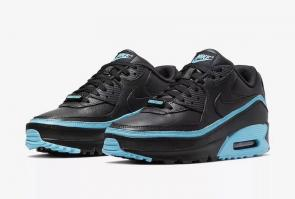 nike air max 90 flyknit 2.0 sneakers 30th_ black blue